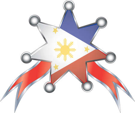 medal with the national flag of Philippines