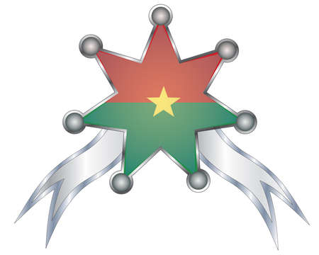 medal with the national flag of Burkina Faso. Vector