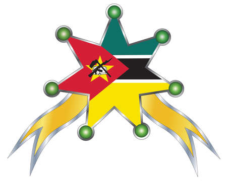 mozambique: medal with the national flag of Mozambique Illustration