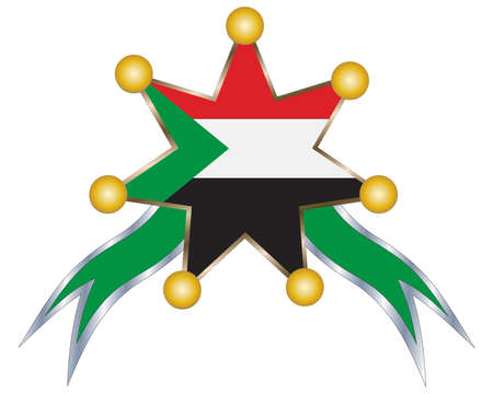 sudan: medal with the national flag of Sudan