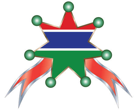 gambia: medal with the national flag of Gambia