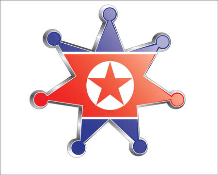 medal with the national flag of Korea Vector