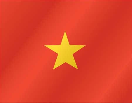 Vietnam waving flag