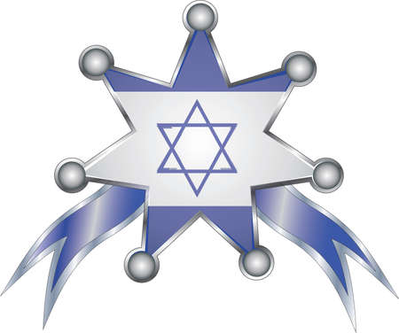 medal with the national flag of Israel