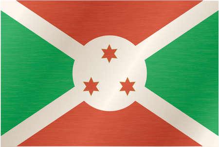 bujumbura: Burundi flag with title on the white background