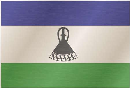 piedra laja: lesotho bandera