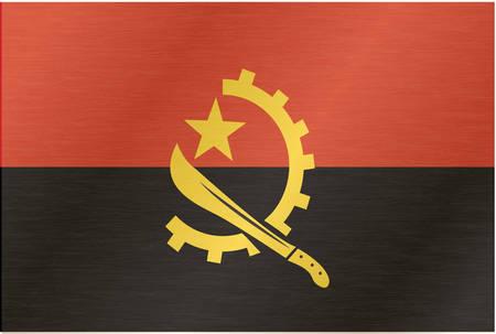 machete: Angola vector flag