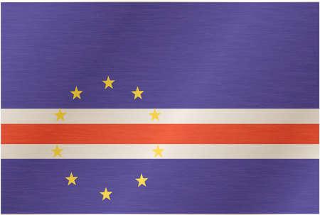 cape verde flag: Flag of Cabo Verde. Illustration over white background