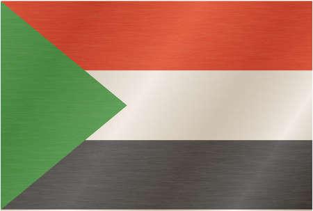 piedra laja: sudan-bandera