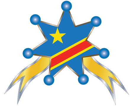 dr: medal with the national flag of DR Congo