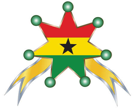 ghanese: medal with the national flag of Ghana