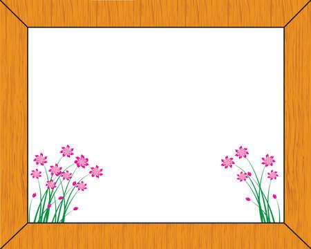 bordering: marco de madera-vector