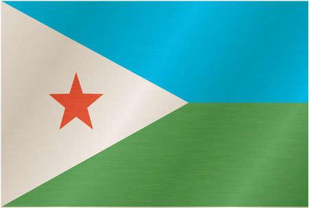 djibouti: Illustrated flag of Djibouti Illustration