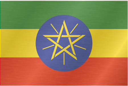 piedra laja: Etiop�a-bandera Vectores