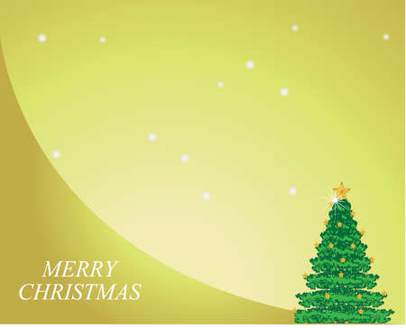 Merry Christmas Snowflake greeting card design background, vector illustration Vector
