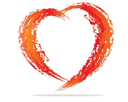 heart shape design for love symbols  Illustration