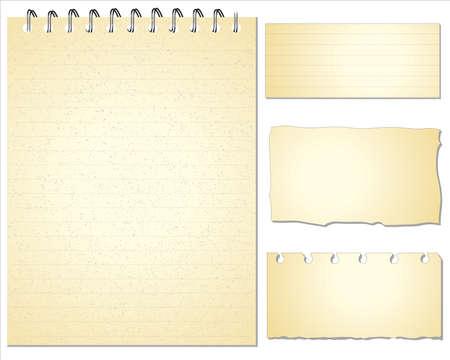 Set of Paper notes  Vector Illustration