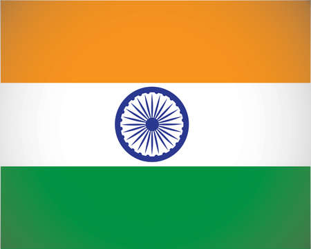 National flag of India with correct proportions and color scheme