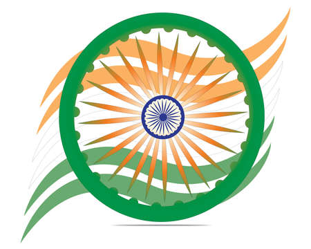 Indian flag color creative wave background with  EPS 10  Vector