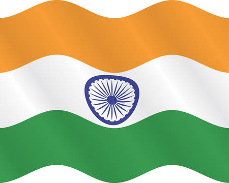 east indian: Flag of India  Close up
