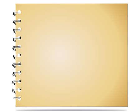 Notebook With Metal Binder Vector