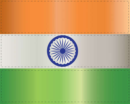 Illustration of the flag of India on a white background