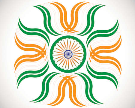 Creative grungy Indian flag design for Indian Republic day and Independence Day  Vector illustration