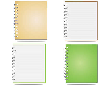 Blank notepad isolated on white