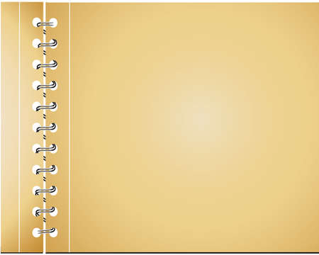 recycled paper notebook front cover -vector