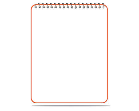 Lined spiral notepad on white Vector