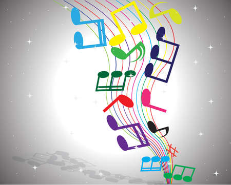 Abstract music notes background , vector Vector