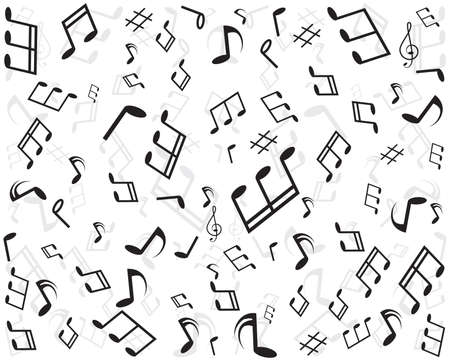 Abstract music seamless pattern background vector illustration for your design Vector