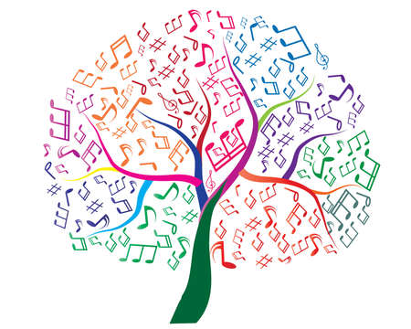 Abstract musical tree for your design Zdjęcie Seryjne - 27374358