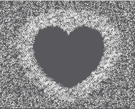 heart made from music notes - abstract design