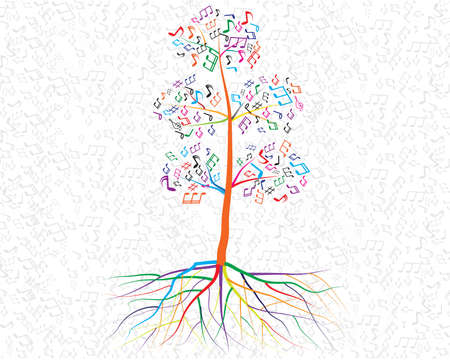 Abstract musical tree for your design Vector
