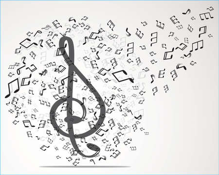 alt: abstract musical background Illustration
