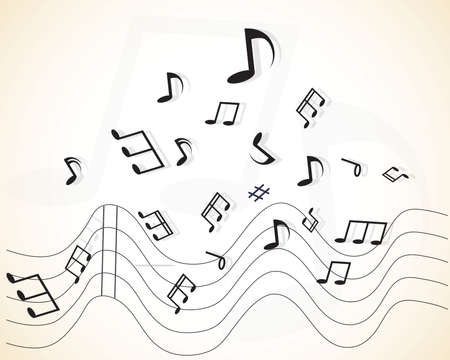 Abstract music with notes Stock Vector - 28042667