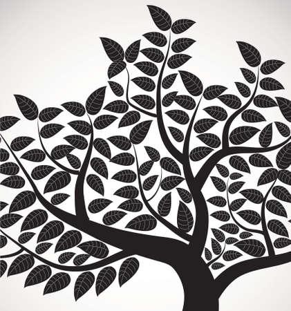 Vektor-Zeichnung von dem Baum
