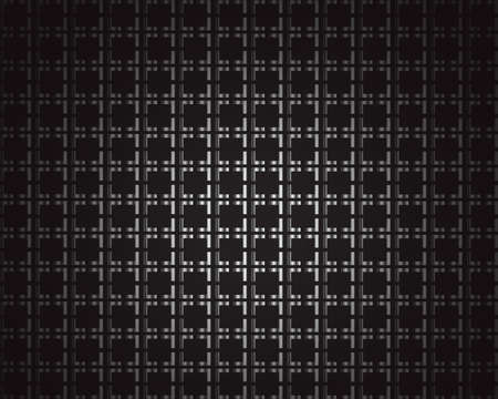 background: Black metallic background with squares and space for text