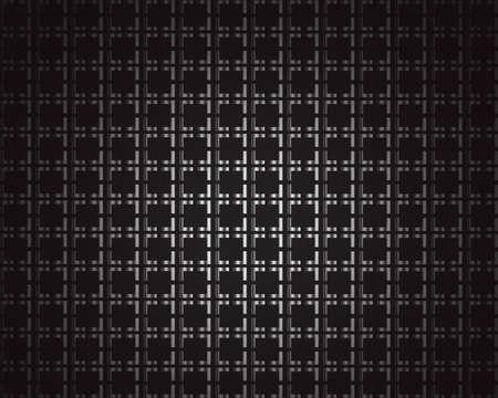 Zwart metallic achtergrond met vierkanten en ruimte voor tekst