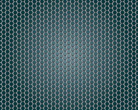 steel background: Metal Shine Hexagon Grid on Blue Background.  Illustration