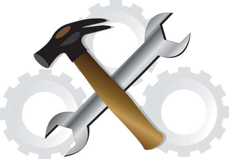 tooling: Wrench and Hammer.