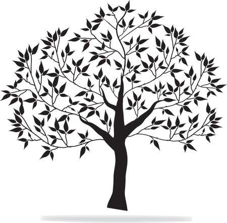black tree Stock Illustratie