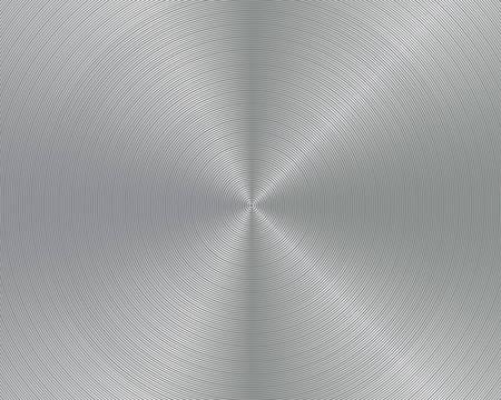 Circular brushed metal texture Illusztráció