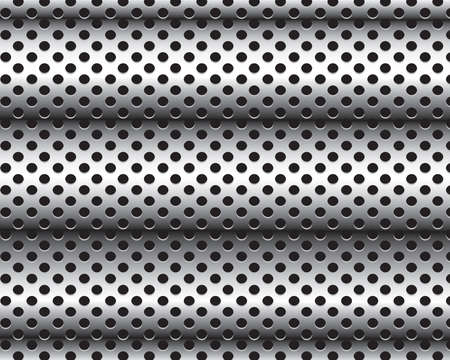 mechanical radiator: Gray background perforated sheet