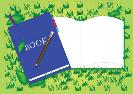 dhesive note: notebook on Sward Illustration