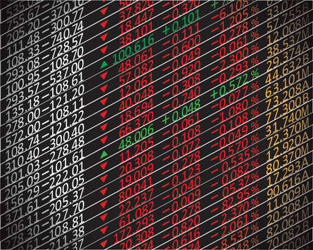 indicator board: stock exchange graph background