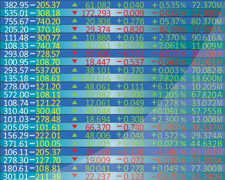 Display of Stock market quotes ,vector Vector
