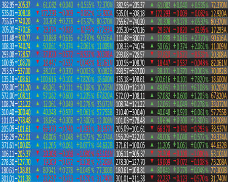 Business company financial balance. Stock Quotes at real time at the stock exchange Illustration