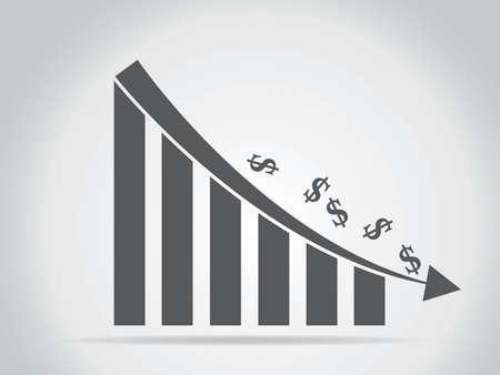 business decline graph Иллюстрация